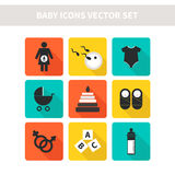 Baby icons Royalty Free Stock Images
