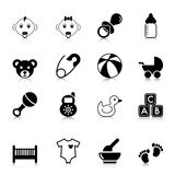 Baby Icons with reflection Royalty Free Stock Photography
