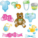Baby icons set Stock Photos