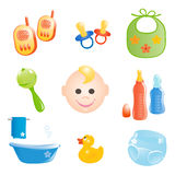 Baby icons set. Vector-Illustration Stock Images