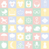 Baby icons set. Royalty Free Stock Image