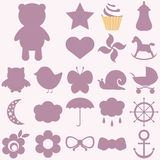 Baby icons set. Stock Images