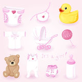 Baby icons set Royalty Free Stock Photography