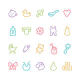 Baby icons Stock Images