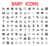 Baby icons set Stock Images