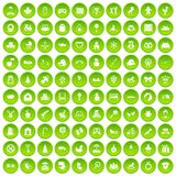 100 baby icons set green circle. Isolated on white background vector illustration Vector Illustration