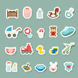 Baby Icons set. Illustration of baby icons set Royalty Free Stock Images