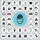 Baby icons set. Illustration eps10 Royalty Free Stock Images