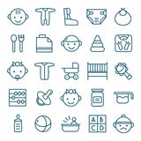 Baby icons set Stock Photography