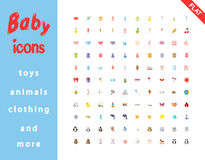 Baby icons set. Stock Image