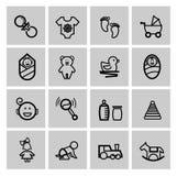 Baby icons set Stock Photos