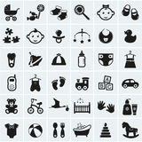 Baby Icons Set. Vector Illustration. Royalty Free Stock Images