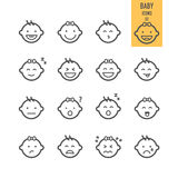 Baby icons set. Royalty Free Stock Images