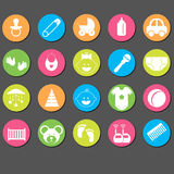 Baby icons set.Vector Illustration Royalty Free Stock Photo