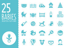 Baby icons set, vector Stock Photos