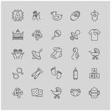 Baby icons set Royalty Free Stock Image