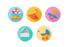 Baby icons Royalty Free Stock Photos