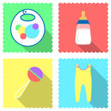 Baby. Icons for site image objects for toddlers Stock Photography