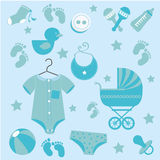 Baby icons skin Royalty Free Stock Photo