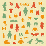 Baby icons stock illustration
