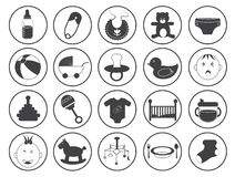 Baby Icons Vector Collection Royalty Free Stock Image