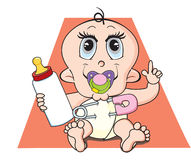 Baby, illustration Stock Image