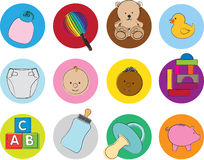 Baby illustration set Stock Photography