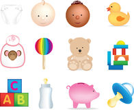 Baby illustrations Stock Photos