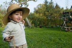 Baby im Hut Stockfotografie