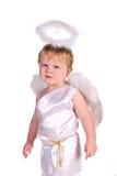 Baby im Kostüm des Engels stockbild