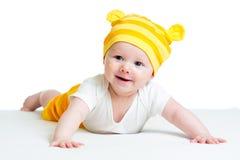 Baby im lustigen Hut Stockbilder