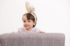Baby im Ostern-Kostüm Lizenzfreies Stockbild
