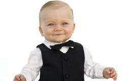 Baby im Smoking Stockbilder