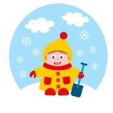 Baby im Winter Stockbilder