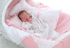 Free Baby In Bassinet Stock Image - 4273231
