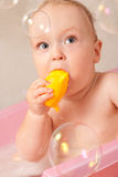 Baby In Bath Stock Photography