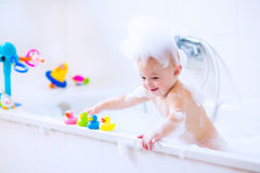 Free Baby In Bath Stock Image - 45664021