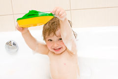 Baby In Bath Royalty Free Stock Photos
