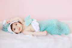 Baby In Cocoon Royalty Free Stock Image