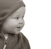 Baby In Green Royalty Free Stock Photos