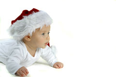 Baby In Santa Hat Royalty Free Stock Photos