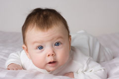 Baby infant girl Stock Photo