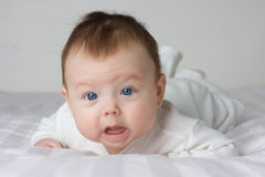 Baby infant girl Stock Image