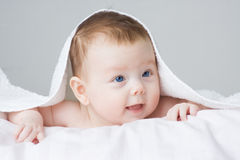 Baby infant girl Stock Photos