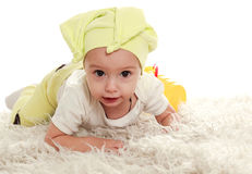 Baby infant in the studio Stock Photography