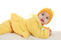 Baby infant in the studio Royalty Free Stock Photography
