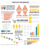 Baby infographic. Detailed vector baby infographic with sample data - easy to edit Stock Images