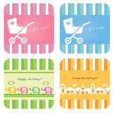 Baby invitation card Stock Images