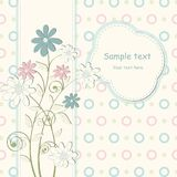 Baby Invitation cards Royalty Free Stock Image
