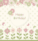 Baby Invitation cards with flowers Stock Photo